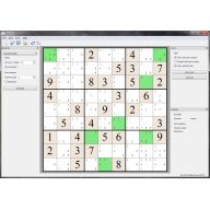 Main window with generated sudoku and activated tips.